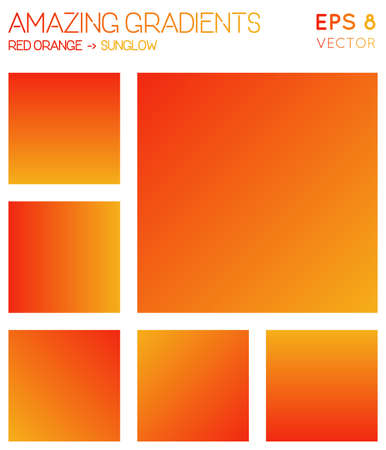 Colorful gradients in red orange, sunglow color tones. Adorable gradient background, interesting vector illustration.