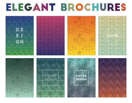 Elegante Broschüren. Tatsächliche geometrische Muster. Ursprünglicher Hintergrund. Vektor-Illustration.