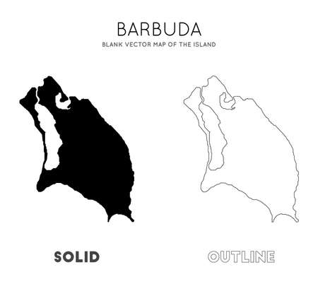 Barbuda map. Blank vector map of the Island. Borders of Barbuda for your infographic. Vector illustration.