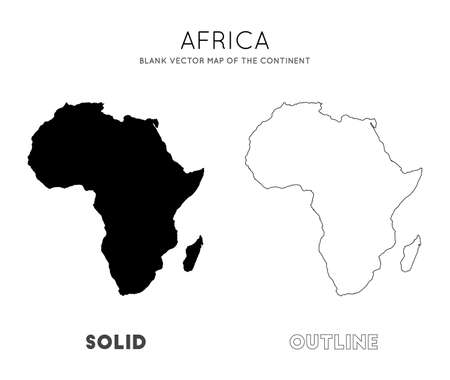 Africa map. Blank vector map of the Continent. Borders of Africa for your infographic. Vector illustration.