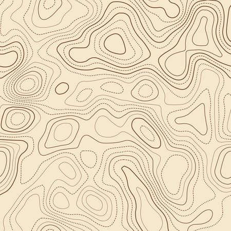 Topographic contours. Actual topographic map. Seamless design, graceful tileable isolines pattern. Vector illustration. Illusztráció