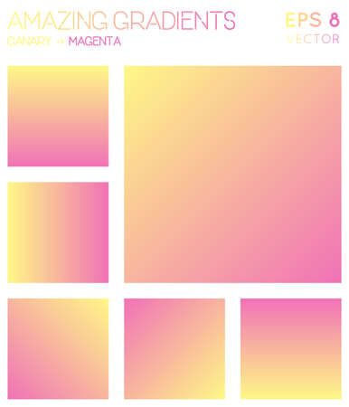 Colorful gradients in canary, magenta color tones. Adorable gradient background, unequaled vector illustration.
