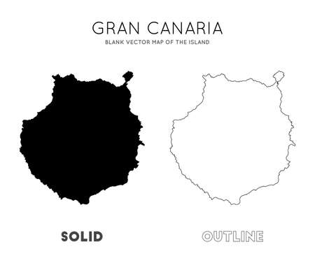 Gran Canaria map. Blank vector map of the Island. Borders of Gran Canaria for your infographic. Vector illustration. Illusztráció