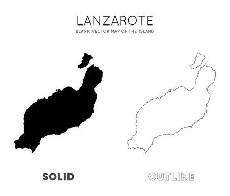 Lanzarote map. Blank vector map of the Island. Borders of Lanzarote for your infographic. Vector illustration. Illusztráció
