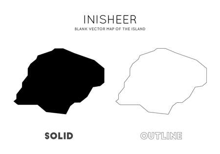 Inisheer map. Blank vector map of the Island. Borders of Inisheer for your infographic. Vector illustration.