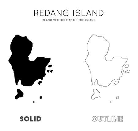 Redang Island map. Blank vector map of the Island. Borders of Redang Island for your infographic. Vector illustration. Çizim