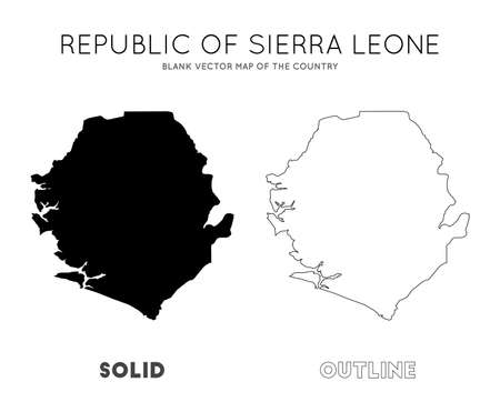 Sierra Leone map. Blank vector map of the Country. Borders of Sierra Leone for your infographic. Vector illustration.