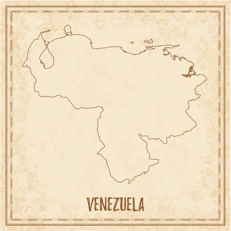 Pirate map of Venezuela. Blank vector map of the Country. Vector illustration.