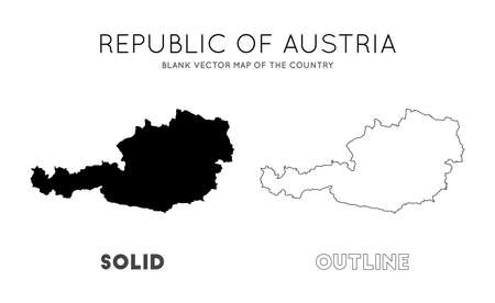 Austria map. Blank vector map of the Country. Borders of Austria for your infographic. Vector illustration.