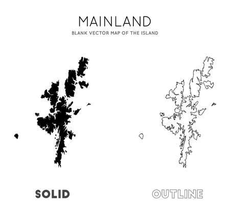 Mainland map. Blank vector map of the Island. Borders of Mainland for your infographic. Vector illustration. Illusztráció