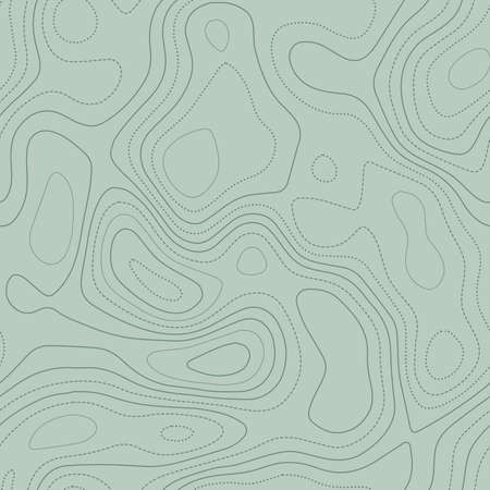 Topographic map lines. Actual topographic map in green tones, seamless design, superb tileable pattern. Vector illustration. Illusztráció