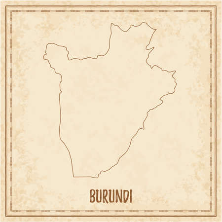 Pirate map of Burundi. Blank vector map of the Country. Vector illustration. Illustration