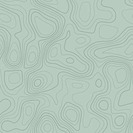 Topographic map lines. Actual topographic map in green tones, seamless design, extraordinary tileable pattern. Vector illustration. Illusztráció