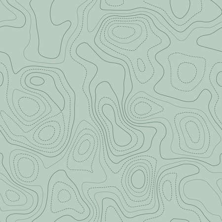 Contour lines. Actual topographic map in green tones, seamless design, delightful tileable pattern. Vector illustration. Illusztráció