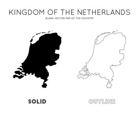 Netherlands map. Blank vector map of the Country. Borders of Netherlands for your infographic. Vector illustration. Иллюстрация