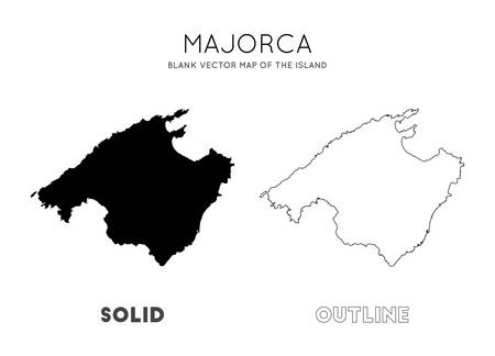 Majorca map. Blank vector map of the Island. Borders of Majorca for your infographic. Vector illustration. 일러스트