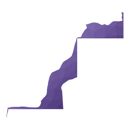 Western Sahara map. Geometric style country outline. Fantastic violet vector illustration.