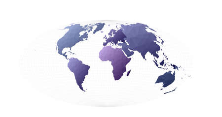 World map illustration. Aitoff projection. Actual vector illustration. 일러스트