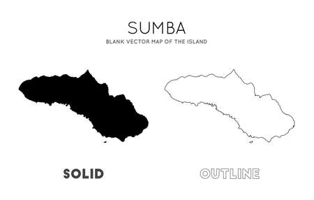 Sumba map. Blank vector map of the Island. Borders of Sumba for your infographic. Vector illustration.