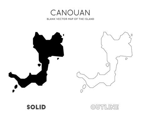 Canouan map. Blank vector map of the Island. Borders of Canouan for your infographic. Vector illustration.