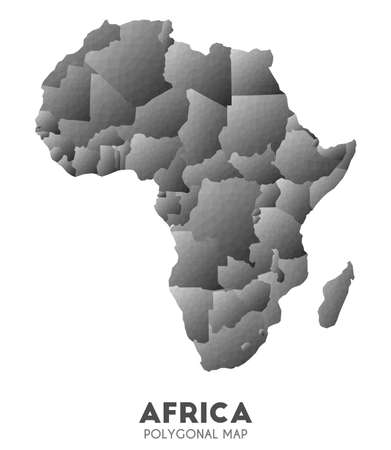 Africa Map. actual low poly style continent map. Alive vector illustration.