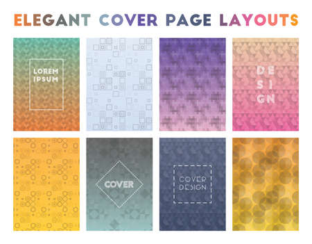 Elegant Cover Page Layouts. Actual geometric patterns. Eminent vector illustration.