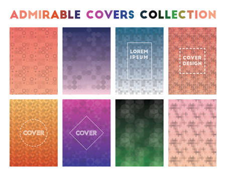 Admirable Covers Collection. Admirable geometric patterns. Charming vector illustration.