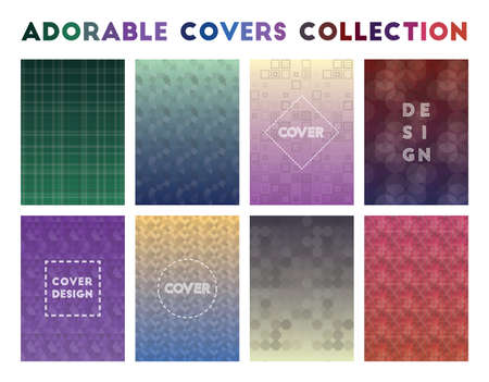 Adorable Covers Collection. Actual geometric patterns. Exceptional vector illustration.