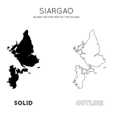 Siargao map. Blank vector map of the Island. Borders of Siargao for your infographic. Vector illustration.