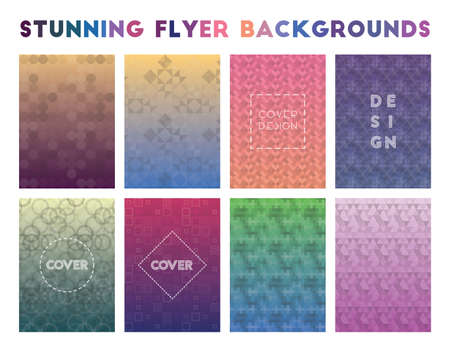 Stunning Flyer Backgrounds. Alive geometric patterns. Great background. Vector illustration.