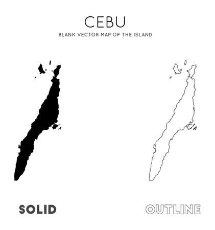 Cebu map. Blank vector map of the Island. Borders of Cebu for your infographic. Vector illustration. Ilustrace