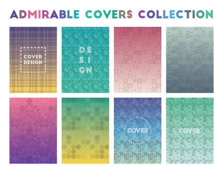 Admirable Covers Collection. Actual geometric patterns. Tempting vector illustration.