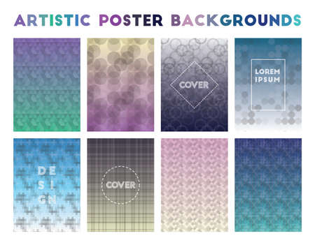 Artistic Poster Backgrounds. Actual geometric patterns. Great vector illustration.