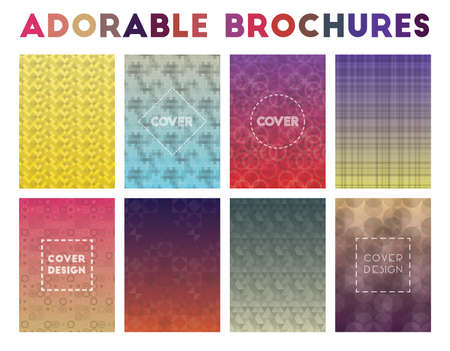 Adorable Brochures. Admirable geometric patterns. Classy vector illustration.