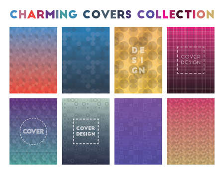 Charming Covers Collection. Actual geometric patterns. Fine vector illustration.