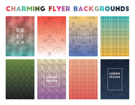 Charming Flyer Backgrounds. Actual geometric patterns. Superb background. Vector illustration.