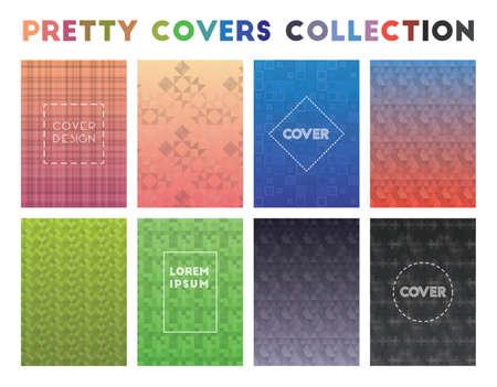 Pretty Covers Collection. Actual geometric patterns. Shapely background. Vector illustration. Illusztráció