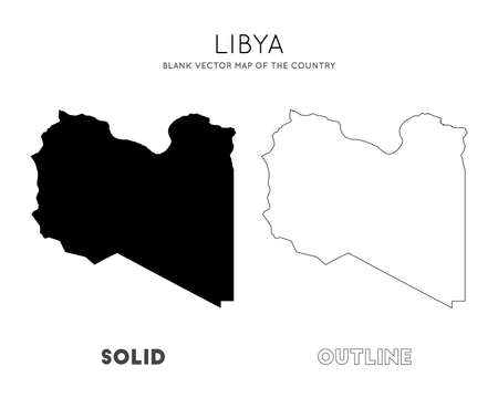 Libya map. Blank vector map of the Country. Borders of Libya for your infographic. Vector illustration. Фото со стока - 130108565