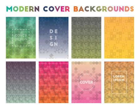 Sfondi di copertina moderna. Adorabili motivi geometrici. Sfondo pulito. Illustrazione vettoriale.