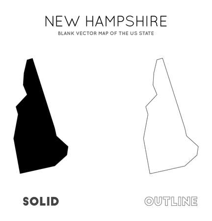 New Hampshire map. Blank vector map of the Us State. Borders of New Hampshire for your infographic. Vector illustration.