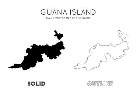 Guana Island map. Blank vector map of the Island. Borders of Guana Island for your infographic. Vector illustration. Stock Illustratie
