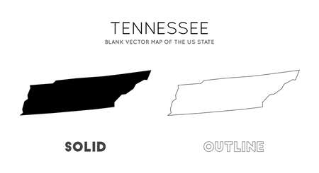 Tennessee map. Blank vector map of the Us State. Borders of Tennessee for your infographic. Vector illustration. Фото со стока - 130686657