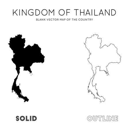 Thailand map. Blank vector map of the Country. Borders of Thailand for your infographic. Vector illustration.  イラスト・ベクター素材