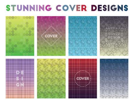 Stunning Cover Designs. Actual geometric patterns. Impressive vector illustration.