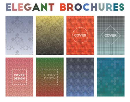 Elegant Brochures. Actual geometric patterns. Mesmeric vector illustration.