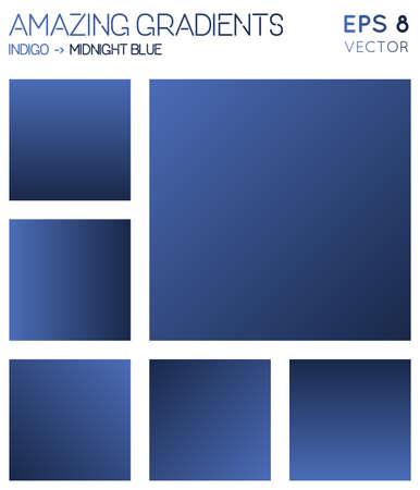 Colorful gradients in indigo, midnight blue color tones. Actual gradient background, memorable vector illustration. Illusztráció