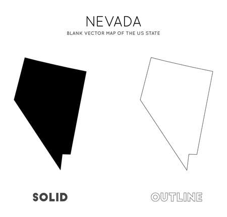 Nevada map. Blank vector map of the Us State. Borders of Nevada for your infographic. Vector illustration. Фото со стока - 130687123