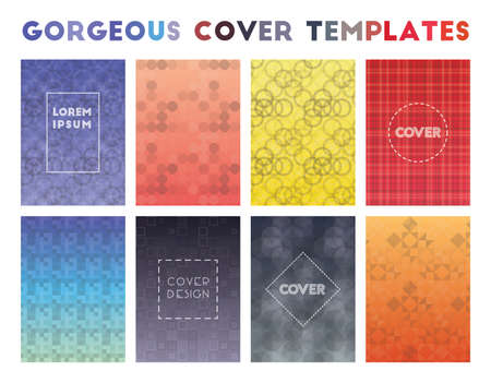 Gorgeous Cover Templates. Actual geometric patterns. Fancy vector illustration.