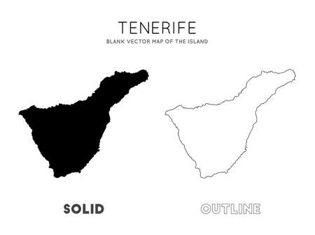 Tenerife map. Blank vector map of the Island. Borders of Tenerife for your infographic. Vector illustration.