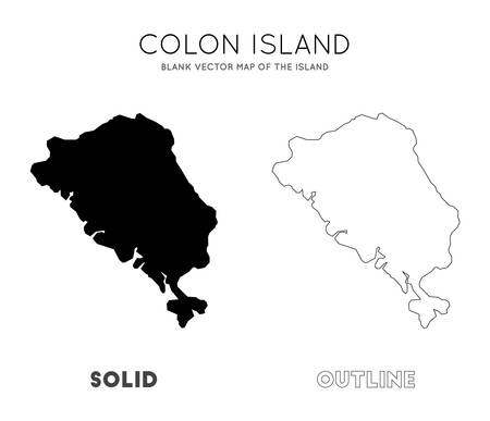 Colon Island map. Blank vector map of the Island. Borders of Colon Island for your infographic. Vector illustration.